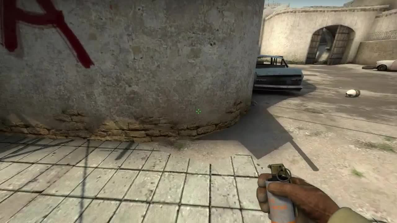 thewarmup, [Dust2] Easy T Spawn --> Long Corner Smoke (requires jumpthrow bind, but very little precision lineup required) (reddit) GIFs
