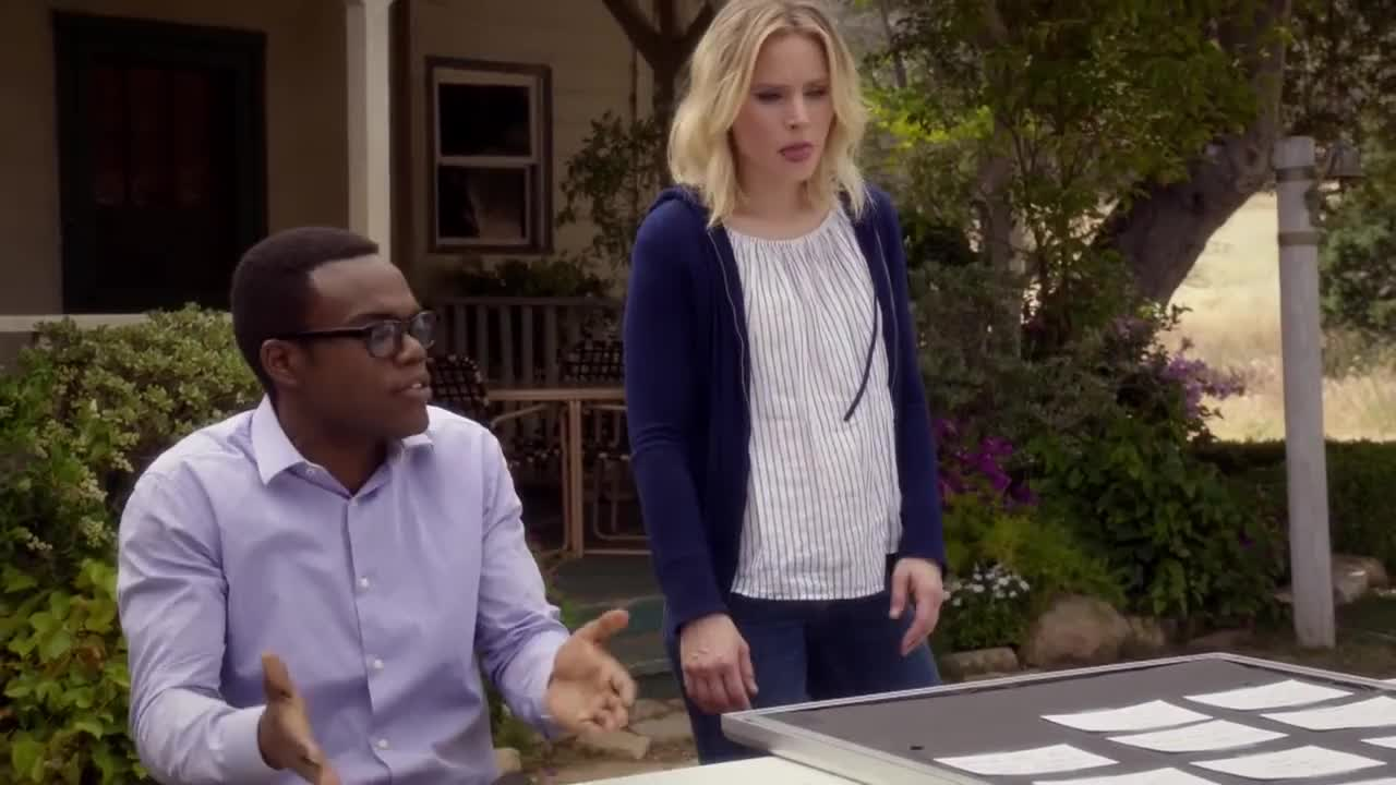 falling, kristen bell, nbc, the good place, trailer, The Good Place - Eleanor has it Bad for Chidi (Episode Highlight) GIFs