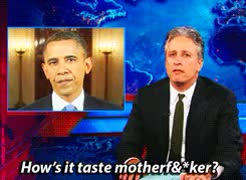 Watch and share Barack Obama GIFs and Jon Stewart GIFs on Gfycat