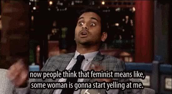 aziz ansari, Aziz Ansari on Feminism GIFs