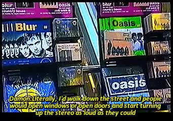 Watch Holly GIF on Gfycat. Discover more 90s, 90s bands, 90s music, alex james, blur, britpop, damon albarn, dave rowntree, graham coxon, my gif set, oasis, oasis vs blur GIFs on Gfycat