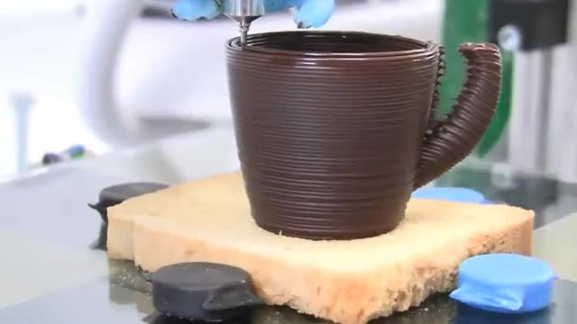 Watch and share 3D Chocolate Printer - Chocolate 3D Printer - 3D Printing Stocks GIFs on Gfycat