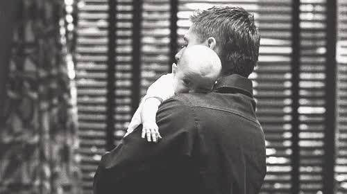 Watch and share Jensen Ackles Holding Baby GIFs on Gfycat