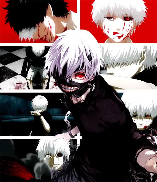 Watch and share Tokyo Ghoul, Kaneki Ken, Anime animated stickers on Gfycat