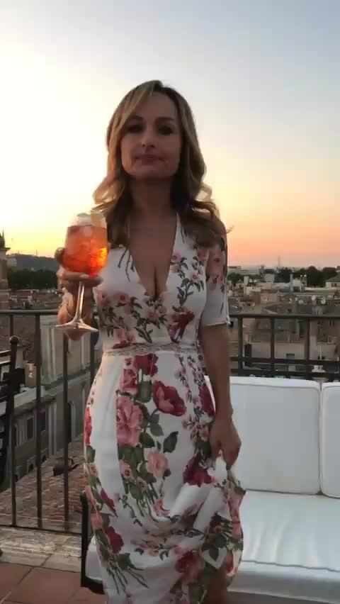 giada, Busty on balcony in Italy (reddit) GIFs