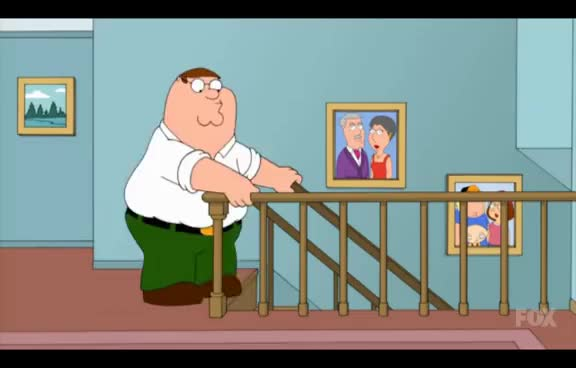 Watch and share Peter Falls Down The Stairs GIFs on Gfycat