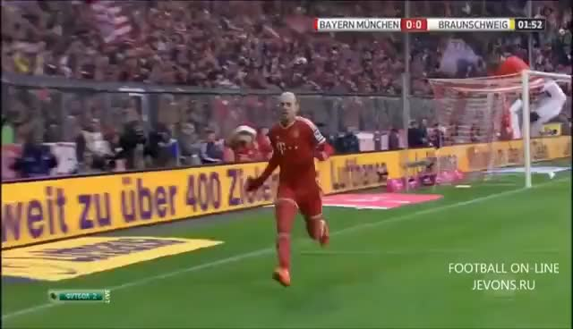 Watch Robben Celebration GIF on Gfycat. Discover more bayern, celebration, funny, goal, robben GIFs on Gfycat