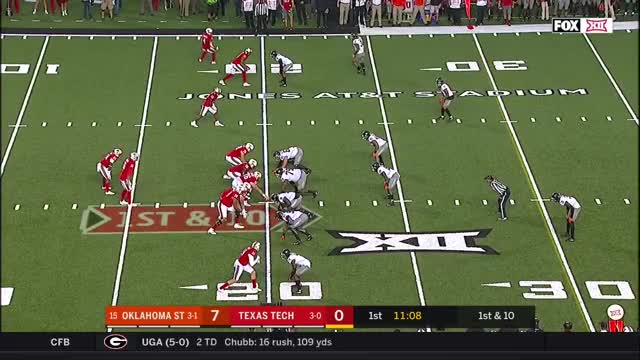 Watch and share 2017 NCAA Football Week 5: Oklahoma State At Texas Tech GIFs by nolesfan4440 on Gfycat