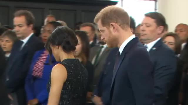 Watch Prince Harry and Meghan Markle at Stephen Lawrence memorial GIF on Gfycat. Discover more Royal, meghan markle, prince harry, theresa may GIFs on Gfycat