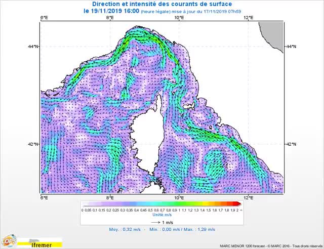 Watch and share Courants F2 Courant Map Ligure 0m 20191119160000 Fr GIFs on Gfycat