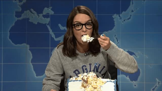 Watch and share Tina Fey GIFs and Cake GIFs by Reactions on Gfycat