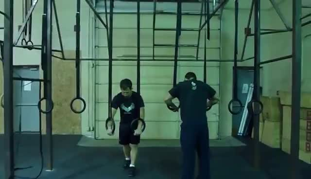crossfit, ring handstand pushups GIFs