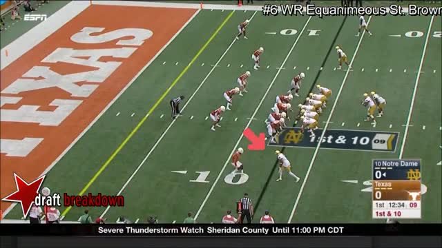Watch and share WR Equanimeous St Brown Vs Texas 2016 GIFs on Gfycat