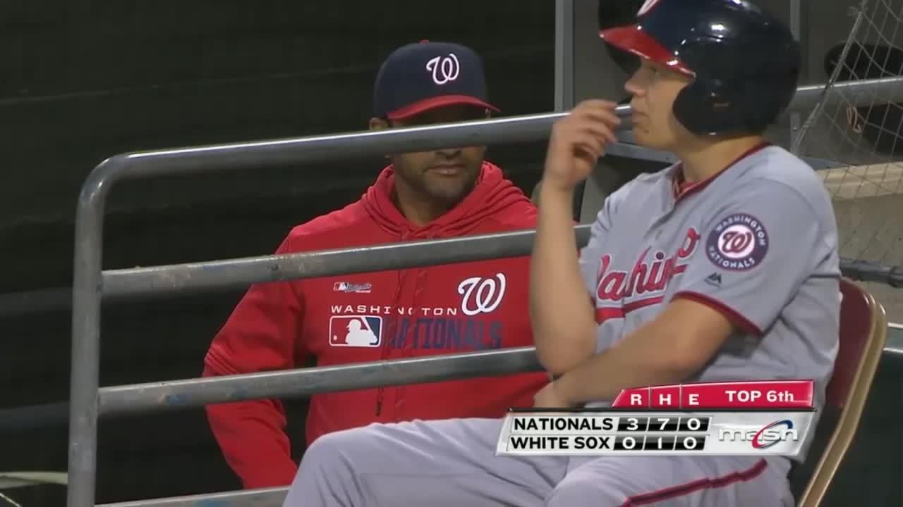baseball, nationals, washington nationals, weird davey martinez face GIFs