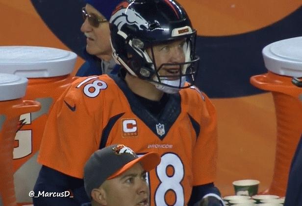 denverbroncos, nfl, Peyton Manning reaction after Rivers interception (reddit) GIFs
