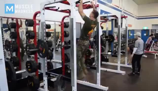 Watch and share SUPER MARINE In Army Gym - Michael Eckert | Muscle Madness GIFs on Gfycat