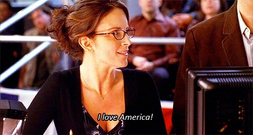 america, tina fey, Tina Fey Loves America GIFs
