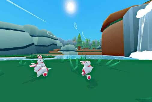 Watch and share Nytro - Grassy Hub - Bunnies In-game GIFs by OhiraKyou on Gfycat