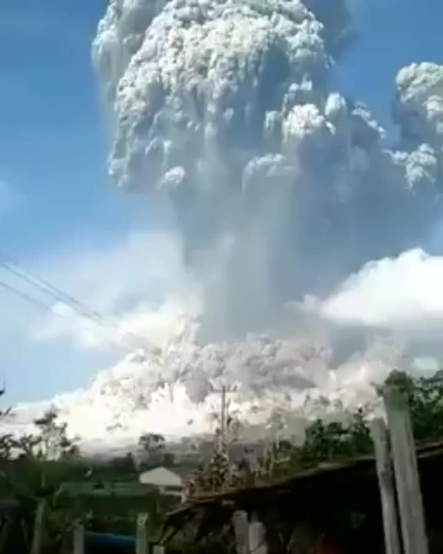 Watch These are not the explosions I love: A volcano in Indonesia has erupted. GIF on Gfycat. Discover more related GIFs on Gfycat