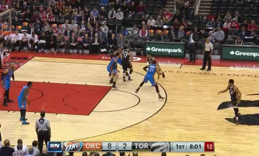 Watch and share Derozan Assist Thunder GIFs by dirk41 on Gfycat