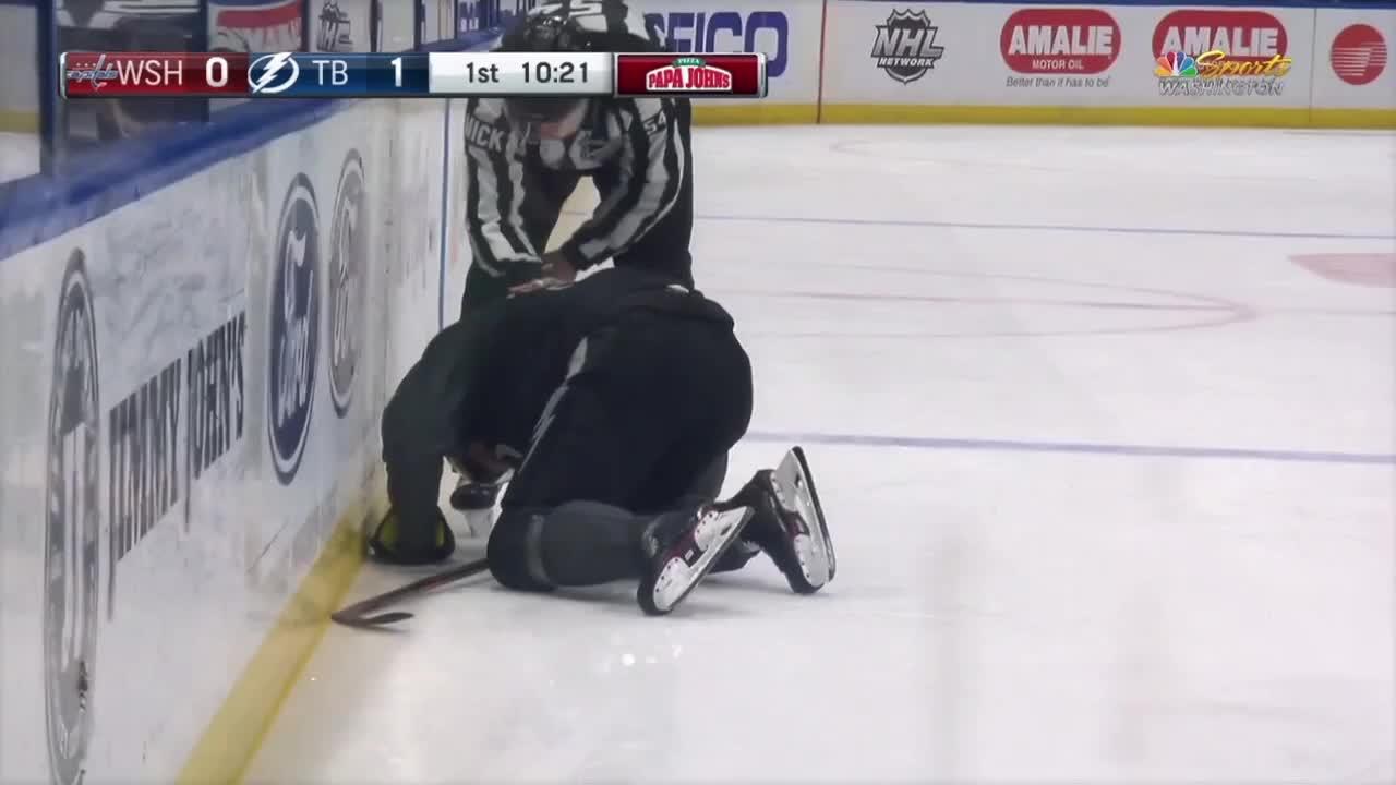 Sergachev injured GIFs