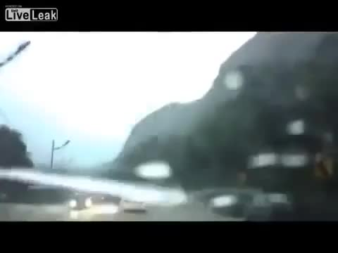 Watch Landslide almost takes out car (reddit) GIF on Gfycat. Discover more wellthatsucks GIFs on Gfycat