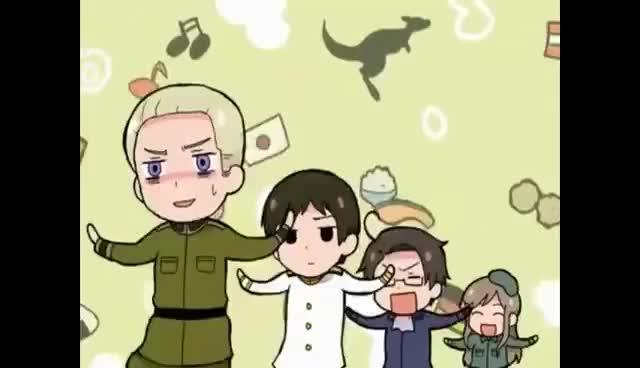 Watch APH Hale Nochi Guu 2 GIF on Gfycat. Discover more APH, Hetalia, anime, cute, kawaii GIFs on Gfycat