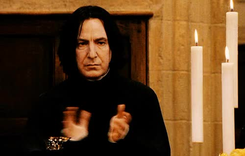 Watch Alan Rickman Slow Clap GIF by Reaction GIFs (@sypher0115) on Gfycat. Discover more alan rickman, applause, clap, clapping, respect, slow clap, slowclap GIFs on Gfycat