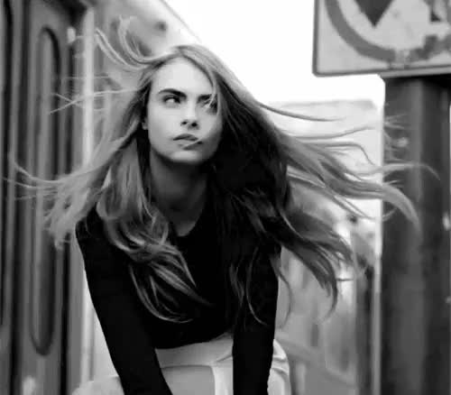 Watch and share Cara Delevingne GIFs and Blowing Hair GIFs on Gfycat