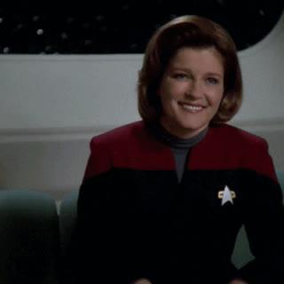 celebs, disgust, janeway, kate mulgrew, kathryn janeway, reaction, star trek, star trek voyager, voy, voyager, Janeway Reaction 4 GIFs