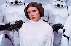 Watch and share Carrie Fisher GIFs and Princess Leia GIFs on Gfycat