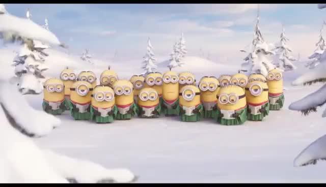 christmas, happy christmas, happy holidays, holiday, merry christmas, minions, xmas, Merry Christmas from Claudia GIFs