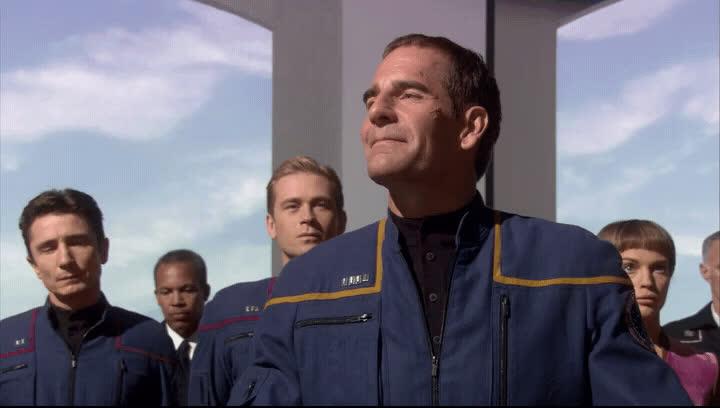 captain archer, enterprise, scott bakula, star trek, star trek: enterprise, MRW I get home after a long day of work GIFs