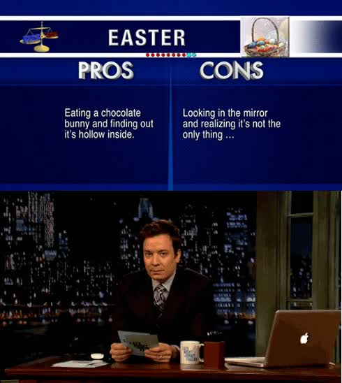 Watch Pros and Cons Of Easter GIF on Gfycat. Discover more jimmy fallon GIFs on Gfycat
