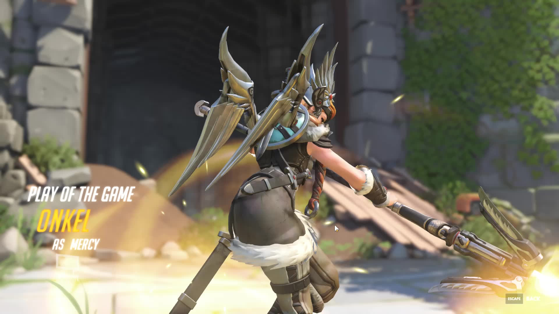 buttclench, mercy rez, overwatch, I never reacted this fast in my entire life... Once in a lifetime GIFs