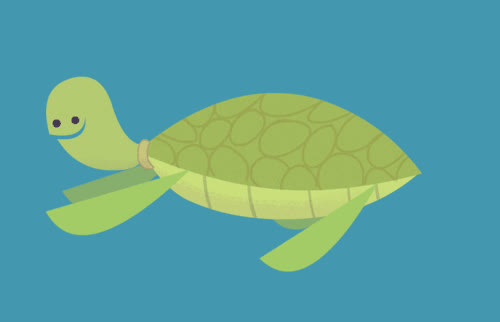post cartoon turtle swimming Im GIFs