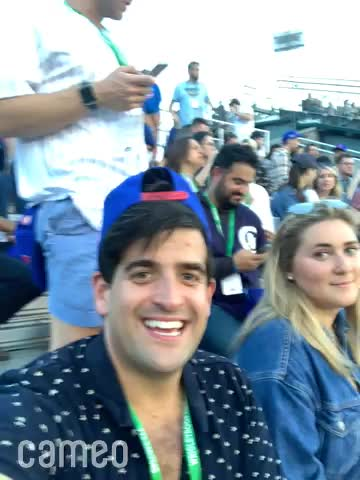 Watch and share COO Cameo, Arthur Leopold Shouts Out Costa Rica's Call Center At Wrigley Field. GIFs by Richard Blank on Gfycat