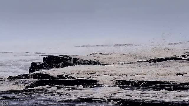 Watch and share Sea Foam On The Rocks, County Clare, Ireland. (reddit) GIFs by orbojunglist on Gfycat