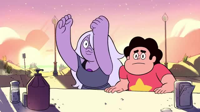 "Watch Steven & Amethyst - ""The Bits!"" GIF on Gfycat. Discover more All Tags, amethyst, cartoon, clip, fries, fryman, funny, quote, steven GIFs on Gfycat"
