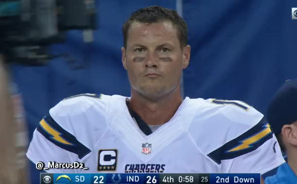 Watch and share Philip Rivers Reaction Sideline GIFs by MarcusD on Gfycat