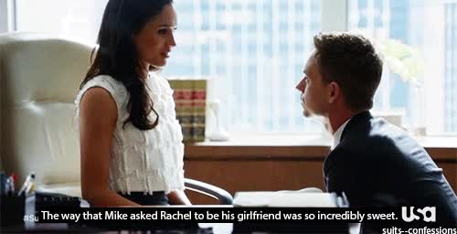 Watch and share Rachel Zane Suits Usa Gif GIFs on Gfycat