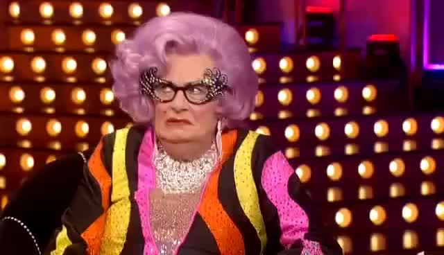 "Watch and share Dame Edna - ""Stupid Noise!"" GIFs on Gfycat"