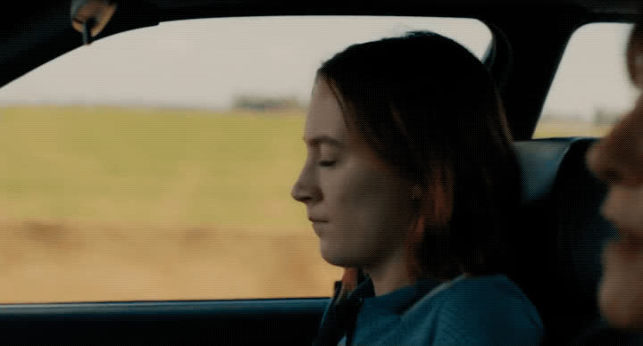 Saoirse Ronan, bye, byeee, lady bird, over it, see ya, Lady Bird Jumps Out of the Car GIFs