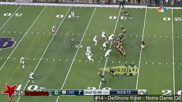 Watch and share DeShone Kizer (Notre Dame QB) Vs Michigan State 2016 GIFs by jonah7073 on Gfycat