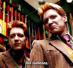 Watch and share George Weasley GIFs and Weasley Twins GIFs on Gfycat