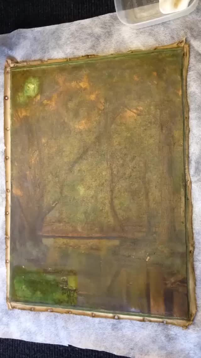 Watch and share Oil Painting Restoration GIFs on Gfycat