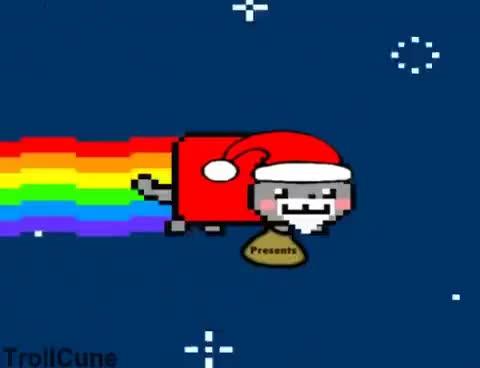 Watch and share Nyan Santa Christmas Nyan Cat GIFs on Gfycat