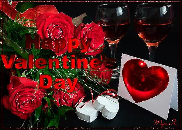 Watch and share С Днем Святого Валентина~Открытки С Днём Влюблённых 14 Февраля GIFs on Gfycat