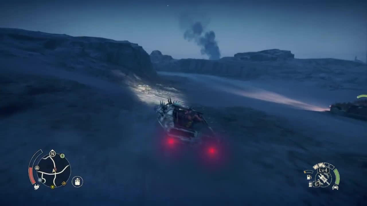 gaming, mad max the game, thepyrotechnician gaming, Mad Max - Taking out a Convoy in the Middle of a Storm GIFs