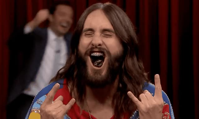 Watch and share Jared Leto GIFs and Excited GIFs by Reactions on Gfycat